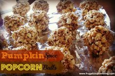 Pumpkin Spice Popcorn Balls Recipe with FREE Printable Labels on Frugal Coupon Living