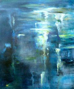 DIANE BORG  Deep Water, 2012 abstract art aqua turquoise teal blue