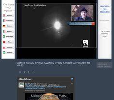 #SidingSpring's close encounter with Mars live on slooh.com #SloohComet #marscomet
