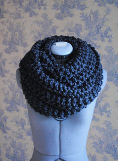 Super Chunky CHARCOAL Infinity Scarf by soliknits on Etsy, $55.00