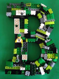 """LEGO: Letter """"B"""" Custom Wall Mosaic"""