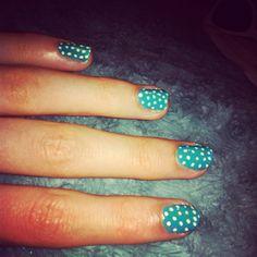 First attempt at DIY polka dot nails