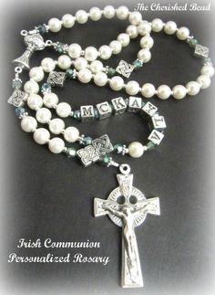 Personalized Irish Irish First Communion by TheCherishedBead, $47.00