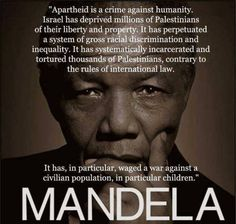 Mandela on the Palestine genocide.