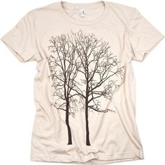 Two Trees Tshirt Natural WOMENS Tee Creme by CritterJitters, $16.99