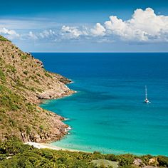 Dream Town: St. Barts' most beautiful beach is hands -own Anse du Gouverneur, a crescent of bright white sand on the island's south shore.