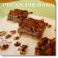 Pecan Pie Bars - Instead of a big ole pie that serves 8, how 'bout a pan of pecan pie bars to serve 16! No forks needed!
