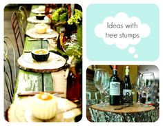 Tree stumps ideas!!! Will definitely do that!!!