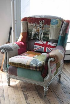 .mixed patterns  I really want this type of upholstery done to a chair I have.  Can't wait till I have enough $$$