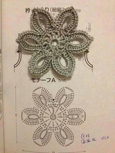 crochet flower, nice flower, flower motif