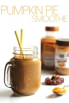 You'd never guess this Pumpkin Pie Smoothie was vegan and healthy!