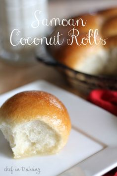 Samoan Coconut Rolls! These delicious melt in your mouth rolls only have THREE ingredients and will become and instant family favorite! recipe found at www.chef-in-training.com