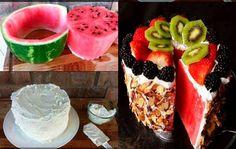 pastel de frutas - fruit cake fresco, delicioso y sencillo
