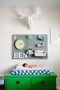 Modern boy's nursery | Erin J Saldana | 100 Layer Cakelet | Look around!