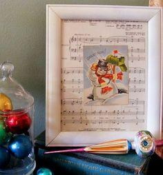 jerusalem greer - Framed Vintage Snowman card