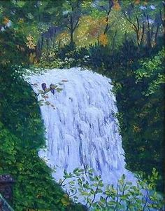 On Sale: Framed North Carolina Waterfall Original Autumn Oil Painting 11x14 OOAK.  Available paintings can be seen in my Ebay store at: http://stores.ebay.com/Pat-Adams-Art-Paintings-and-Photos