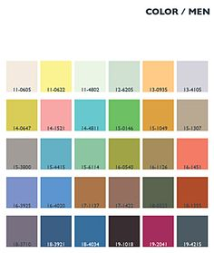 Menswear Color Trends | Lenzing Spring/Summer 2014 Fashion & Color Trends