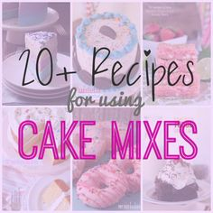 20   Recipes Using Cake Mix -- great for using up those boxes of cake mix in the pantry!