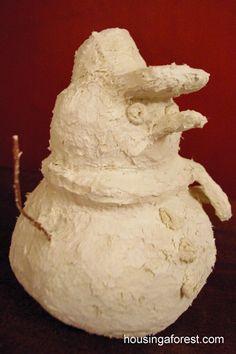 Paper Mache Clay Snowmen ~ Tutorial and clay recipe