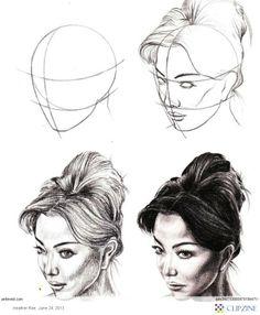 Drawing Tutorials - Faces (as I fail miserably at drawing them)