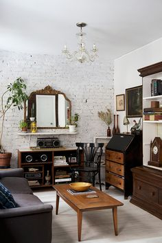 A NYC apartment with lots of vintage treasures.