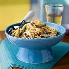 Superfast Italian Recipes | Asparagus and Chicken Carbonara | CookingLight.com