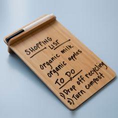 Bamboo Desktop Dry-Erase Board