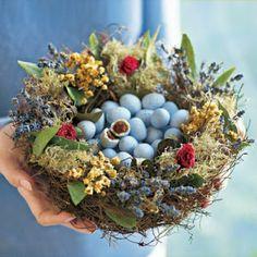 Lovely nest of chocolate truffles ~ beautiful!