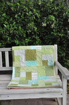 orange you glad: Blue and Green Quilt