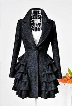 omg! perfect dressy coat! {rows and rows of ruffles <3}