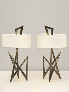 Brass Table Lamps.