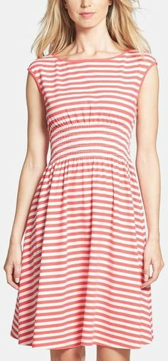 Kate Spade New York Leora Stripe Cotton Stretch Dress
