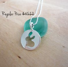 CIJ sale 20 off  Cute bunny 925 sterling silver by TaliaJewelry, $38.20