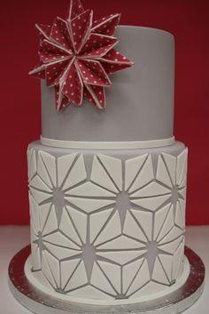 cake tutorial, holiday cakes, christmas cakes, cake decorating tutorials, starburst cake