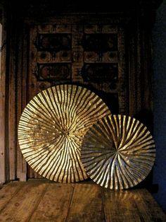 Viya Home's Lotus Leaves wall panels in tempered sheet metal