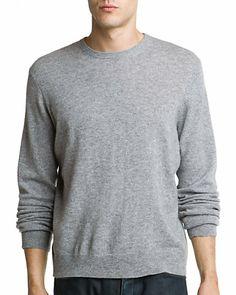 Sofiacashmere Heather Grey Cashmere Crewneck Sweater