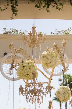 gold wedding bike