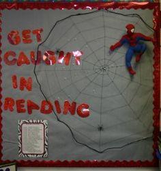 """spider man bulletin board """"get caught reading"""""""