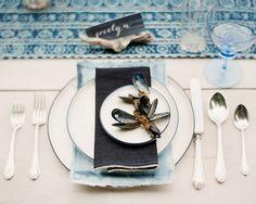 Steal This Style   boho beach indigo table