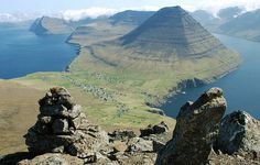 Faroe Islands between Norway and Iceland