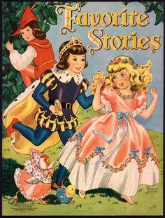 """Favorite Stories"" Merrill 1942, illus. by Florence Salter   eBay"