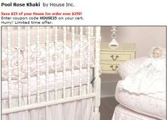 Pink and ivory shabby chic bedding set girl roses rose paris french vintage