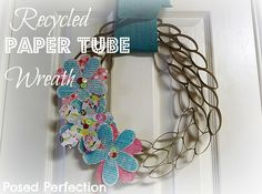 How to Make a Recycled Paper Tube Wreath!  #wreaths