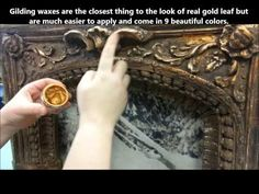 ▶ French Gilding Wax- How To Apply It - YouTube