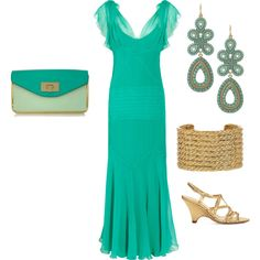 Untitled #1298, created by drewr on Polyvore featuring the Stella & Dot - Capri Chandelier Earrings in Turquoise