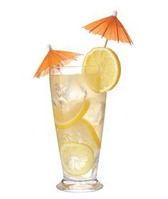 Lemonade margarita Mix 2¼ cups lemonade and ¾ cup tequila. Garnish with lemon rounds.