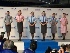 All Nippon Airways' chic new uniforms