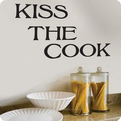Kiss The Cook Word & Quote Wall Decal | Lot26 Studio