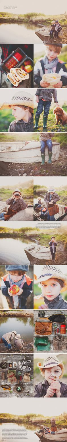 fishing with your boys photo session
