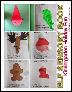 Kindergarten Elf Book from RainbowsWithinReach sensori book, elf book, elv